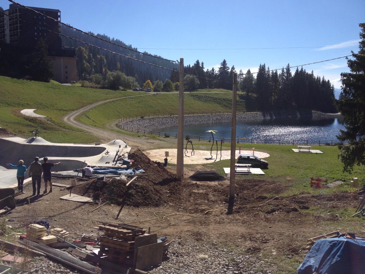 Construction Skatepark de Chamrousse